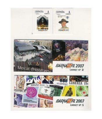 2007 BARNAFIL. Juego 2 carnets personalizados (Mercados y Scouts  - 2