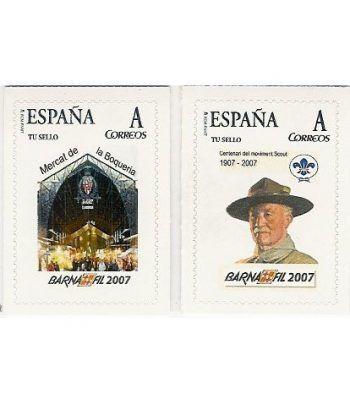 2007 BARNAFIL. 2 sellos personalizados (Mercados y Scouts)  - 2