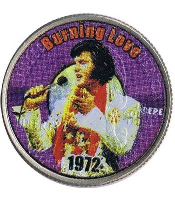 Moneda E.E.U.U. 1/4$ 2002 Elvis 1972 Burning love  - 1