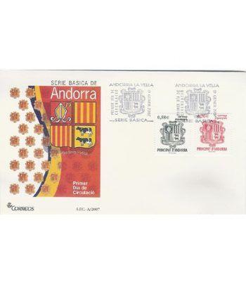 Sobres Primer Día Andorra Española 343/44 (2007)  - 2
