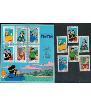 Comics. Francia 2007 Tintin. (1 HB + 6 sellos)  - 2