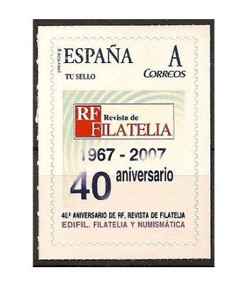 "2007 EDIFIL 09. 40º Aniversario de ""R.F. Revista de Filatelia"".  - 2"