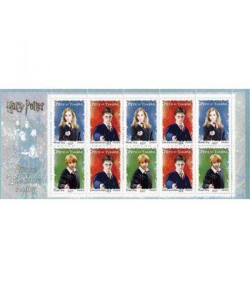 Cine. Francia 2007 Harry Potter carnet 10 sellos  - 1