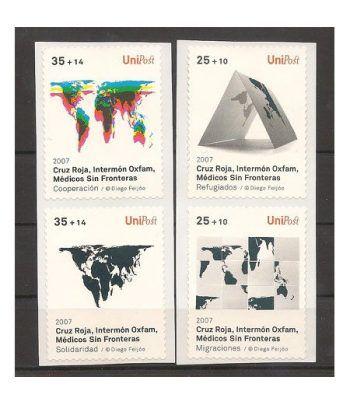 2007 Unipost. 4 sellos solidarios autoadhesivos (1º serie)  - 2