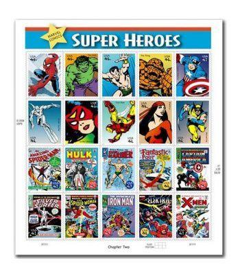 Comics. USA 2006 Marvel Super Heroes (20 sellos)  - 2