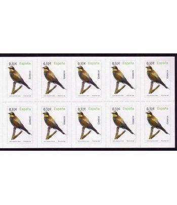 4378 Fauna y Flora (2008) ABEJARUCO COMUN (hoja de 10 sellos)  - 2