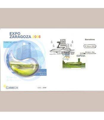 Sobres Primer Día España 4391 Expo Zaragoza (2008)  - 2