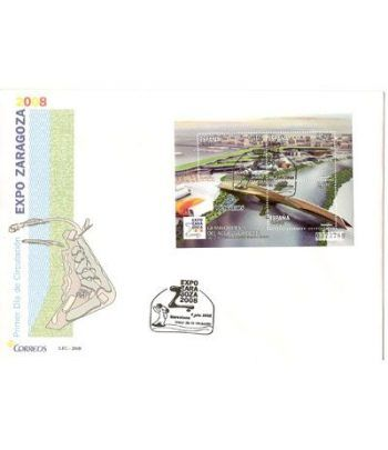 Sobres Primer Día España 4423 Expo Zaragoza (2008)  - 2