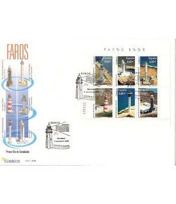 Sobres Primer Día España 4430 Faros (2008)  - 2