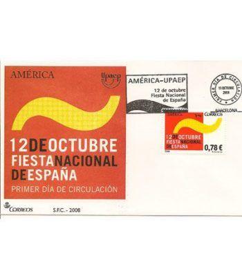 Sobres Primer Día España 4438 America Upaep (2008)  - 2