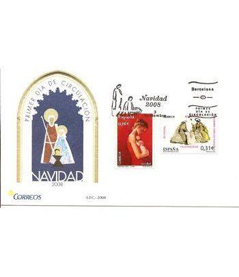 Sobres Primer Día España 4442/43 Navidad (2008)  - 2