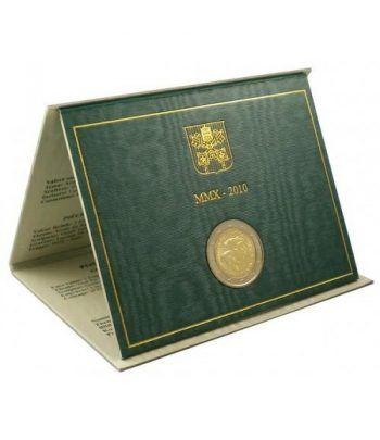 moneda conmemorativa 2 euros Vaticano 2010. Estuche Oficial.  - 1