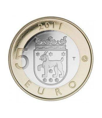 moneda Finlandia 5 Euros 2011 (3ª) Tavastia-Hame.  - 1