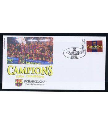 Colección Filatélica Oficial F.C. Barcelona. Pack nº02 Champions  - 12