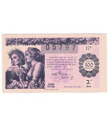 Loteria Nacional. 1946 sorteo 36 (Navidad). Rosa.  - 2