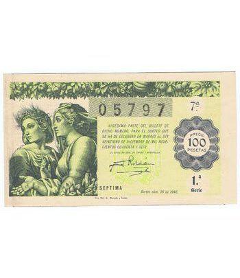 Loteria Nacional. 1946 sorteo 36 (Navidad). Verde.  - 2