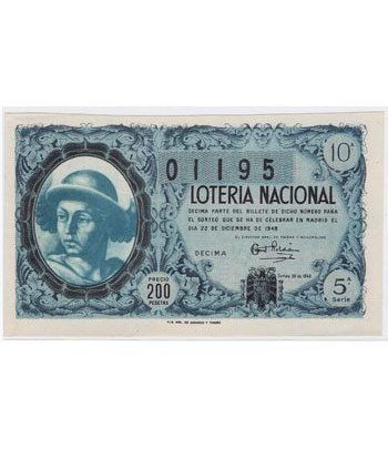 Loteria Nacional. 1948 sorteo 36 (Navidad).  - 2