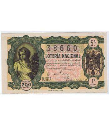 Loteria Nacional. 1949 sorteo 36 (Navidad).  - 2