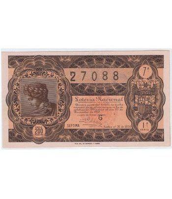 Loteria Nacional. 1950 sorteo 36 (Navidad).  - 2