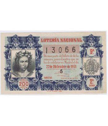 Loteria Nacional. 1951 sorteo 36 (Navidad).  - 2