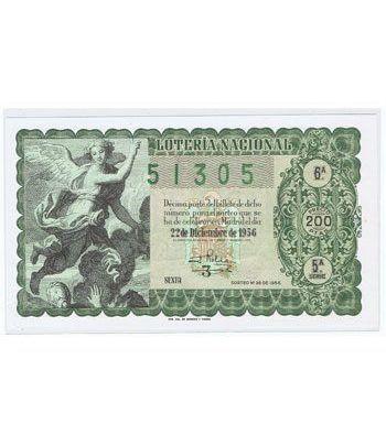 Loteria Nacional. 1956 sorteo 36 (Navidad).  - 2