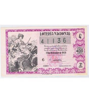 Loteria Nacional. 1958 sorteo 36 (Navidad).  - 2