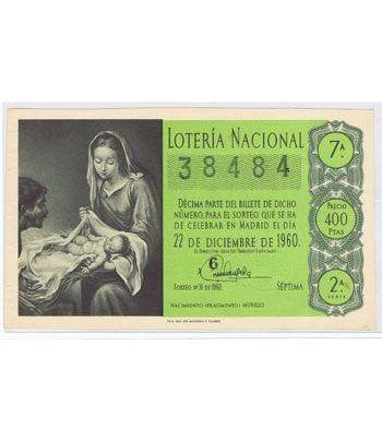 Loteria Nacional. 1960 sorteo 36 (Navidad). Verde.  - 2