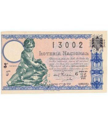 Loteria Nacional. 1941 sorteo 1.  - 2