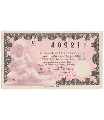 Loteria Nacional. 1943 sorteo 1.  - 2