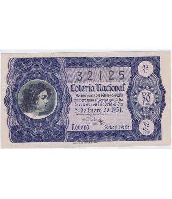 Loteria Nacional. 1951 sorteo 1. Azul.  - 2
