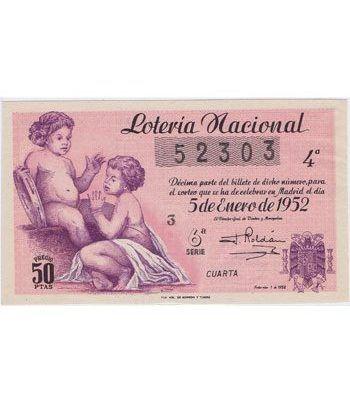Loteria Nacional. 1952 sorteo 1. Rosa.  - 2