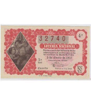 Loteria Nacional. 1953 sorteo 1.  - 2
