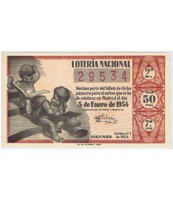 Loteria Nacional. 1954 sorteo 1. Rojo.  - 2
