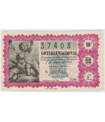 Loteria Nacional. 1955 sorteo 1.  - 2