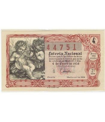 Loteria Nacional. 1958 sorteo 1.  - 2