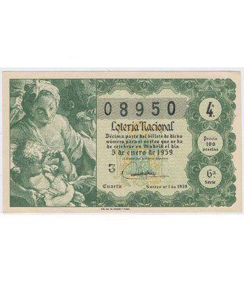 Loteria Nacional. 1959 sorteo 1.  - 2
