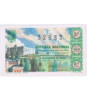 Loteria Nacional. 1962 sorteo 1.  - 2