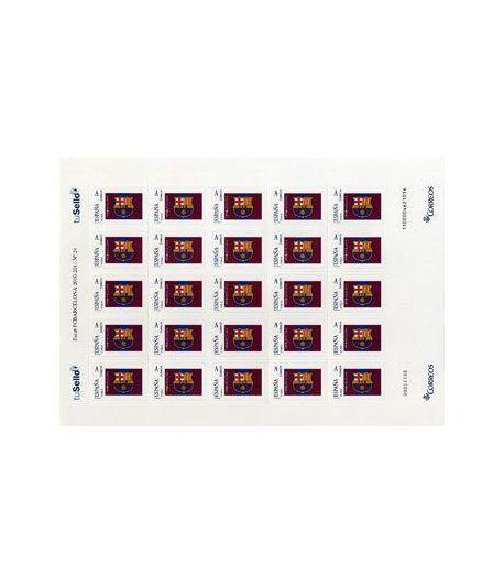 Sello Oficial F.C. Barcelona. Escudo. (Minipliego 25 sellos).  - 2