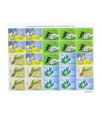 Minipliego 89b Valores Cívicos 2011.  - 2
