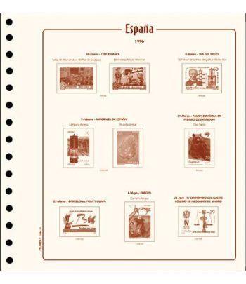 FILOBER sellos ESPAÑA 1955 montado con estuches. Hojas FILOBER Cultural - 2