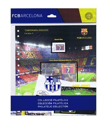 Colección Filatélica Oficial F.C. Barcelona. Pack nº05.  - 10