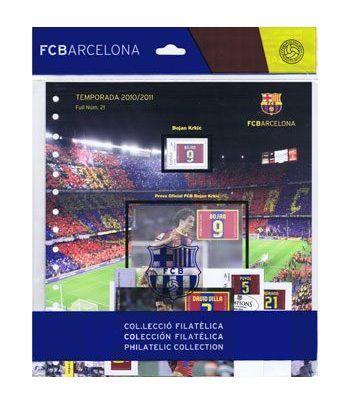 Colección Filatélica Oficial F.C. Barcelona. Pack nº07.  - 10