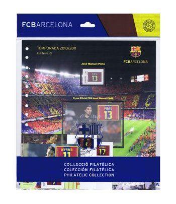 Colección Filatélica Oficial F.C. Barcelona. Pack nº11.  - 10