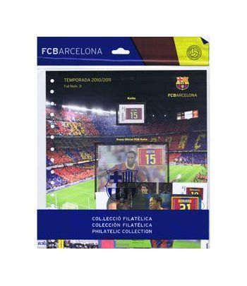 Colección Filatélica Oficial F.C. Barcelona. Pack nº13.  - 1