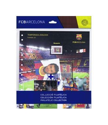 Colección Filatélica Oficial F.C. Barcelona. Pack nº14.  - 10