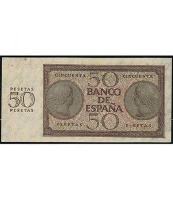 (1936/11/21) Burgos. 50 Pesetas. EBC+. Serie Q074043.  - 2