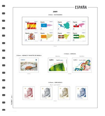 Hojas para sellos de España FILOBER Color
