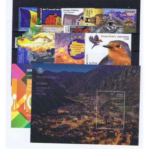 Sellos de Andorra Española años completos