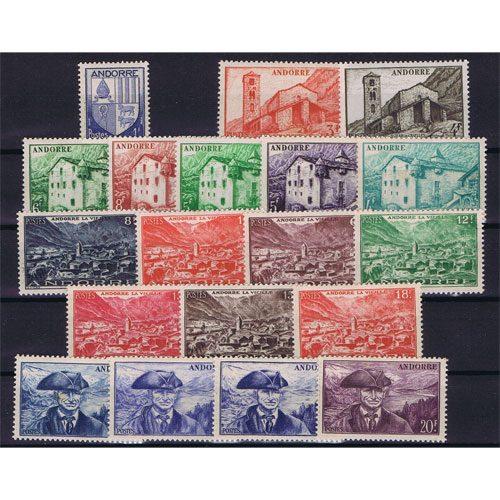 Sellos Andorra Francesa 1948/51