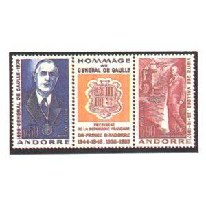 Sellos Andorra Francesa 1972